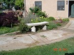 Garden concrete bench done diy image 34