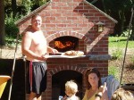 Family oven and pizza time.