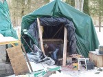 provisional building tent