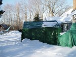 temporary building tent