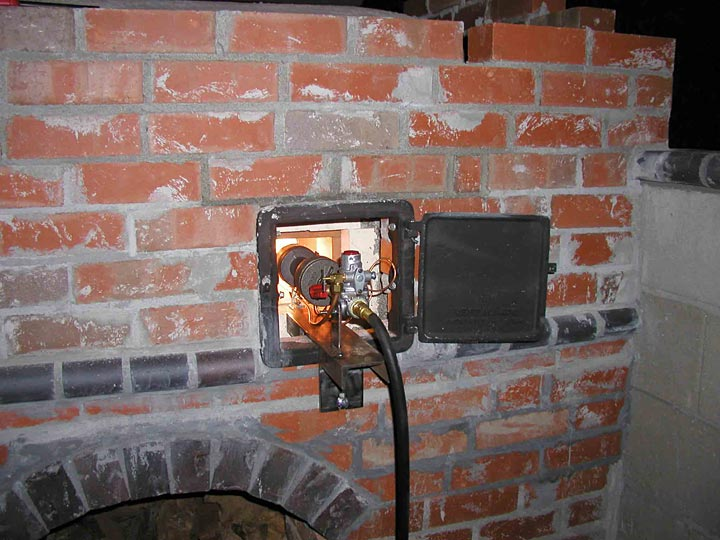 The Gas Burner For Brick Oven