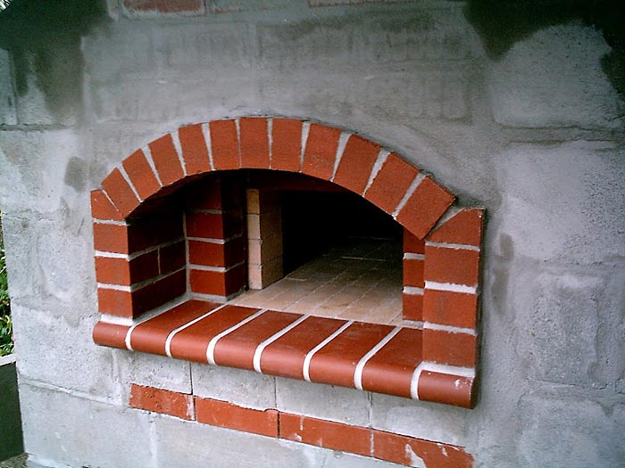 Beautiful Stucco Finish On The Walls Of This Oven