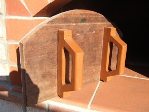 Oven door handles