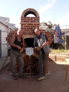 The Hard Brick Cafe. Bill and friend David