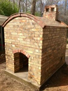 Reclaimed bricks back-view