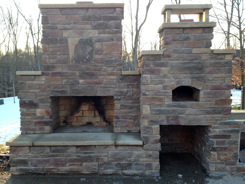 Combo oven and fireplace