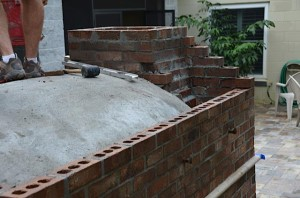 Starting to built the chimney