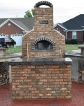 Used industrial kiln bricks for building this oven