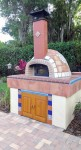 Half-spherical pizza oven