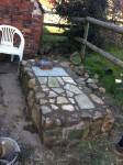 Stone base for brick oven