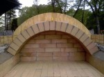 "Vault arch - 2.5"" = 64 mm thick bricks"