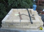 Hearth and walls made from all tapered firebricks