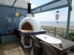 Pizza oven on terrace