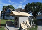 Community oven roof cover