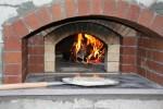 The firebrick oven inside