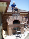 last chimney brick for the complete oven