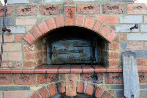 Cast iron door set in old convict clay bricks