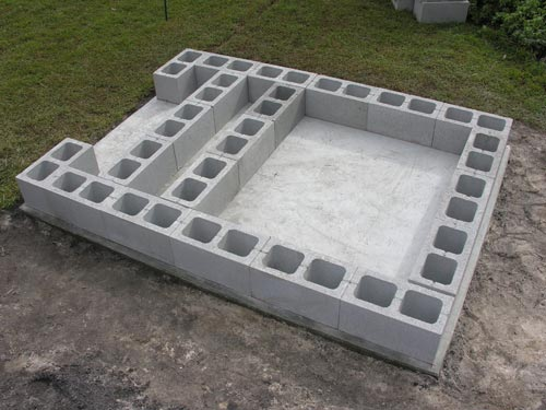 Materials List With Quantities - Cinder block dimensions
