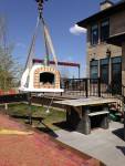 Prefabricated oven installation
