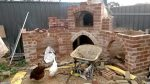 Oven fireplace concrete working top